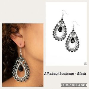 All about Business Black Earring